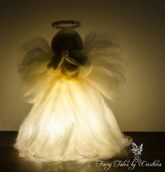 Beautiful Felted Angel praying night light night time