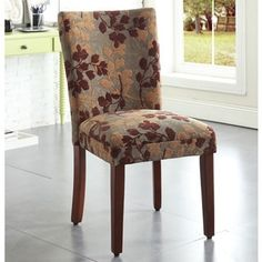 Enjoy exclusive for HomePop Classic Sage Leaf Pattern Fabric Dining Chair Wide x deep x 38 high) online - Newtoprated Parsons Dining Chairs, Fabric Dining Chairs, Upholstered Dining Chairs, Dining Chair Set, Chair Upholstery, Dining Tables, Oak Table, Round Dining, Chair Cushions