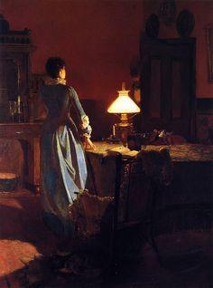 Tom Roberts ~ Twenty minutes past three, c. 1900.