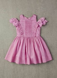 Nellystella Alexis Dress in Orchid Bouquet – FINAL cotton dress with ruffles and layer sleeves in Orchid Bouquet. The estimated shipping date for this item is: This item is available Girls Frock Design, Baby Dress Design, Baby Girl Dress Patterns, Baby Girl Frocks, Frocks For Girls, Little Girl Dresses, Baby Frocks Designs, Kids Frocks Design, Toddler Dress