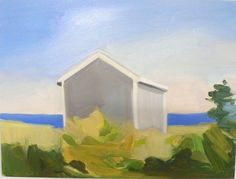 Maureen Gallace  Beach Shack, Cape Cod  2006  oil on panel  9 x 12 inches