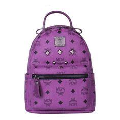 MCM Mini Stark Six Studded Backpack In Purple