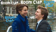 Boom Clap by Charlie XCX from the The Fault In Our Stars movie based on the book by John Green Boom Clap, John Green Books, Ansel Elgort, Beautiful Lyrics, Tfios, The Fault In Our Stars, I Feel Good, The Book, Song Lyrics