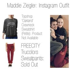 """Maddie Ziegler: Instagram Outfit"" by celebrityoutfits2016 ❤ liked on Polyvore featuring Topshop, FreeCity and pll"