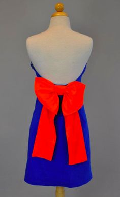 The Paige Gameday Dress {blue/orange} from DressU Boutique
