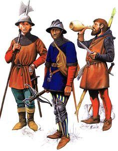 Christopher Rothero - Soldados de infantería igleses, siglo XV