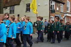 The Scouts Parade let us through Market Square to St Mary's Church for the annual St George's Day Service.