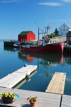 Hall's Harbour, Nova Scotia July 2012...perfect summer morning on the Bay of Fundy (by Colleen George)