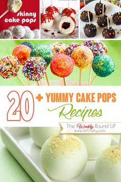I have never made Cake Pops recipes, can you believe that? so what better idea than collecting ideas and inspiration from awesome and creative bloggers!