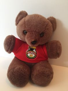 Marmite My Mate Teddy Bear In T Shirt Cuddly Vintage Lefray Toys Collectable Marmite Gifts, Teddy Bear, Toys, T Shirt, Animals, Ebay, Vintage, Activity Toys, Supreme T Shirt