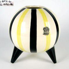 Jumbo Keramik Vase / Kugelvase Gouda Holland 50er 60er Jahre Design Pottery | eBay