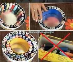 Awesome 10 sewing hacks projects are offered on our website. look at this and you wont be sorry you did. Sewing Room Storage, Sewing Room Organization, Craft Room Storage, Thread Storage, Storage Boxes, Organization Ideas, Organizing, Sewing Spaces, Sewing Rooms