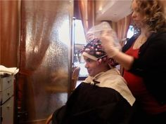 getting a perm for christmas Short Permed Hair, Permed Hairstyles, Boy Hairstyles, Androgynous Fashion Tomboy, Summer Tomboy, Feminized Boys, Getting A Perm, Roller Set, Tomboy Outfits