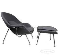Most comfortable chair ever: Kardiel Womb Chair & Ottoman, Charcoal Tweed Cashmere Wool