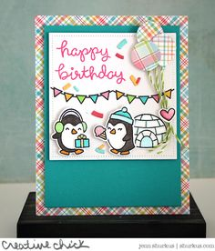 Winter Birthday with Lawn Fawn Products | shurkus.com