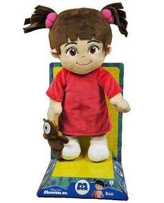 Monsters, Inc. Disney Plush Lovely Boo Red Shirt Doll NEW  #Disney