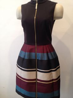 6159f70332900 Ted Baker Stripe Zip Front Dress €279. Hue Wear Nijmegen