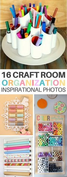 These 16 Craft Room Inspirational Photos Will Help You Organize and Design Your Perfect Hobby Room! #organization #craftroom #hobby #hobbyroom #organize #homedecor #homedesign #interiordesign