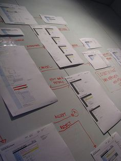 Interesting use of layout during the initial periods of wire-framing. #Wireframes and #prototype #development