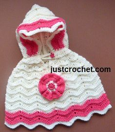 Hooded Poncho Free Crochet Pattern