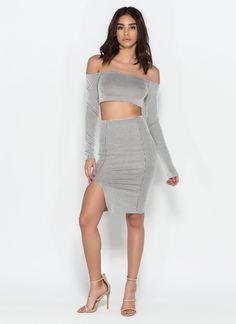 Linear Take Striped Top 'N Skirt Set #linear #stripes #set #top #skirt #gojane
