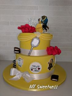 Beauty and the Beast Birthday cake, made by All Sweetness.
