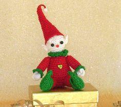Bebe Nisse, Elf Christmas Ornament, amigurumi