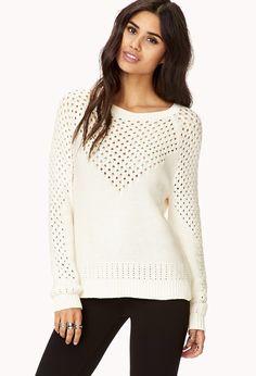 Open-Knit V Sweater   FOREVER21 - 2000128293