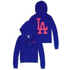 af360f1a3d889 Victoria s Secret Los Angeles Dodgers Bling Perfect Full Zip Hoodie Dodgers  Jacket