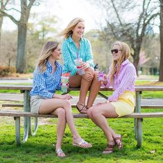 For the ladies, this beautiful early Spring weather is the perfect showcase for our favorite new arrivals like the Brooks Popover from Southern Proper and new tumblers from Lilly Pulitzer. Prep Style, My Style, Southern Proper, Preppy Men, Bff Goals, Preppy Outfits, Summer Wardrobe, How To Look Pretty, Nice Dresses