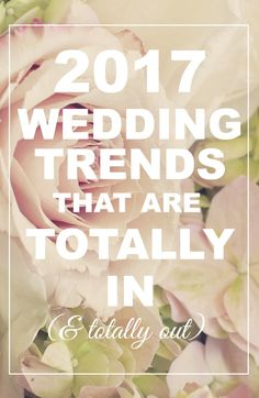 2017 Wedding Trends that are Totally In (& Totally Out! Wedding Planning Inspiration, Wedding Planning Tips, Wedding Tips, Wedding Blog, Diy Wedding, Gold Wedding, Event Planning, Wedding Decor, Wedding Stuff