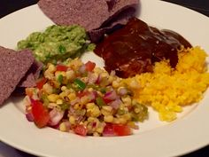 ... Achiote Rice with Fire Roasted Corn & Hatch Chile Salsa and Guacamole