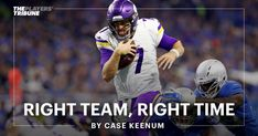 """They say this is a """"prove it"""" league. And proving it — over, and over, and over again — is all I've ever known. Minnesota Vikings Football, Right Time, January 12, Year 2016, Baseball Cards, Wwii, Sports, Thoughts, Purple"""