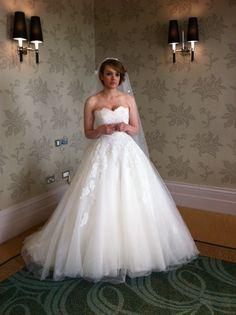 Kirsty wearing Phoenix gowns
