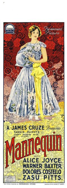 1926 Mannequin  ART & ARTISTS: Film Posters 1913 - 1929