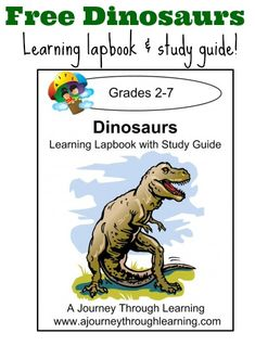 Dinosaur lapbook, free through Monday! We've used A Journey Through Learning lapbooks before and they are always well done and fun.
