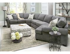 Pathway 4 Piece Right Cuddler Sectional Slumberland Furniture Living Room Furniture Layout, Living Room Sectional, New Living Room, Home And Living, Living Room Designs, Living Room Decor, Cuddler Sectional, Oversized Sectional Sofa, Sectional Couches