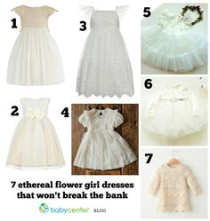7 ethereal flower girl dresses