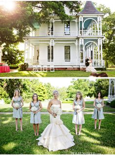 Beautiful venue, beautiful dress, and beautiful color for the bridesmaid dresses.