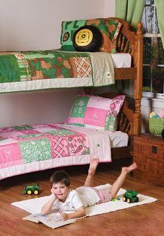 john deere bedroom   John Deere Bedding Girls Quilt And Sham Set Twin Size by Scene Weaver ... bedding, twin, kid bedroom, room idea, tractor bedroom, john deer, future room, boy quilts, kid room