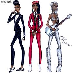 Hayden Williams Fashion Illustrations | Evolution of Janelle Monáe by Hayden Williams ...