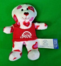 "Build A Bear McDonalds Hearts Fur You Love 4.25"" Loose #BuildABearWorkshop #HappyMeal"