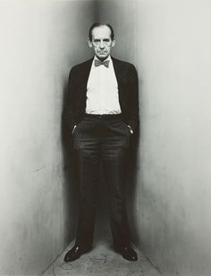 Walter Gropius (German architect and founder of the Bauhaus School) by Irving Penn.  New York. March 12, 1948, printed 1984, Art Institute Chicago