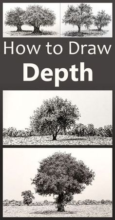 Pencil Drawing Ideas 15 realistic ways to add depth to a drawing or a painting including examples! Drawing Skills, Drawing Lessons, Painting Lessons, Drawing Techniques, Art Lessons, Painting & Drawing, Drawing Tips, Nose Drawing, Drawing Faces