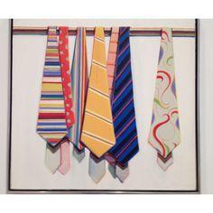 Wayne Thiebaud's Row of Ties
