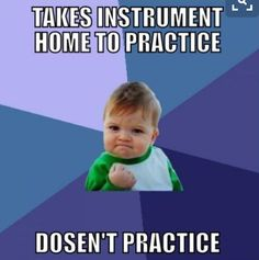 I do that sometimes. I forget to practice. Not all the time but sometimes