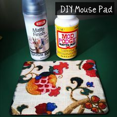 redo your old mouse pad. Tutorial on covering your mouse pad with cute fabric.