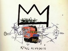 """In 1976 Jean Michel Basquiat began """"writing"""" his unique brand of graffiti throughout Manhattan under the name of """"SAMO."""" His work from the first consisted of conceptual, eni…"""