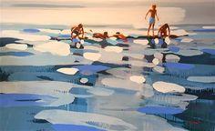 Elizabeth Lennie | Paintings - 2016 Water Art, Art Graphique, Seascape Paintings, Beach Art, Landscape Art, Traditional Art, Art Inspo, New Art, Amazing Art