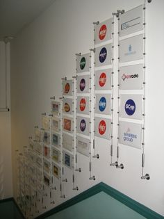Logo Wall! Great idea for office display!